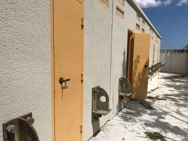 Parte externa das celas modulares. | SESP/Divulgação