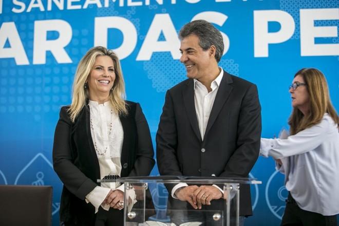 Cida Borghetti e Beto Richa: transição pode ocorrer em abril. | Marcelo Andrade/Gazeta do Povo