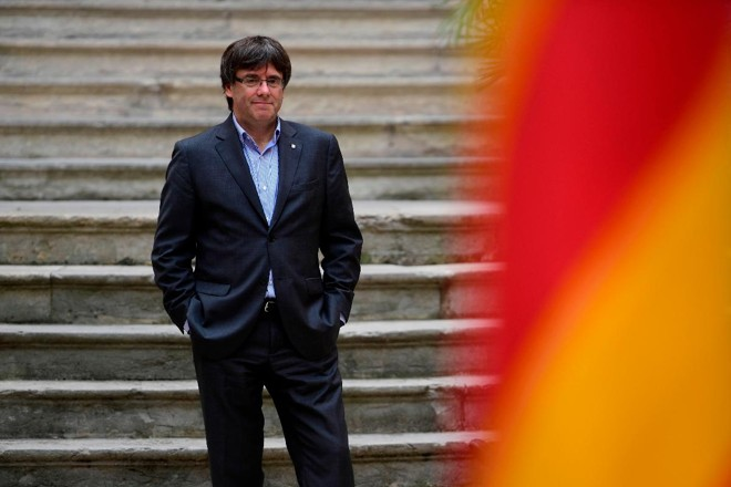 Para que tome posse do cargo de presidente da Catalunha Puigdemont deverá retornar à Espanha. Caso contrário, sua candidatura não será legitimada | PIERRE-PHILIPPE MARCOU/AFP