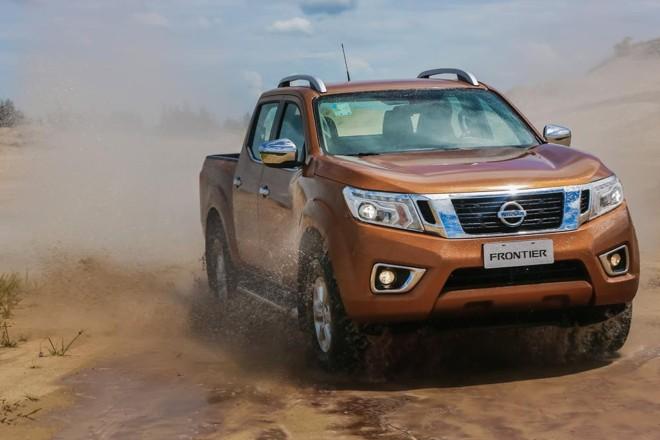 Nissan Frontier: falha em parafuso na coluna de direção pode ocasionar perda do controle do veículo. | Nissan/Divulgação