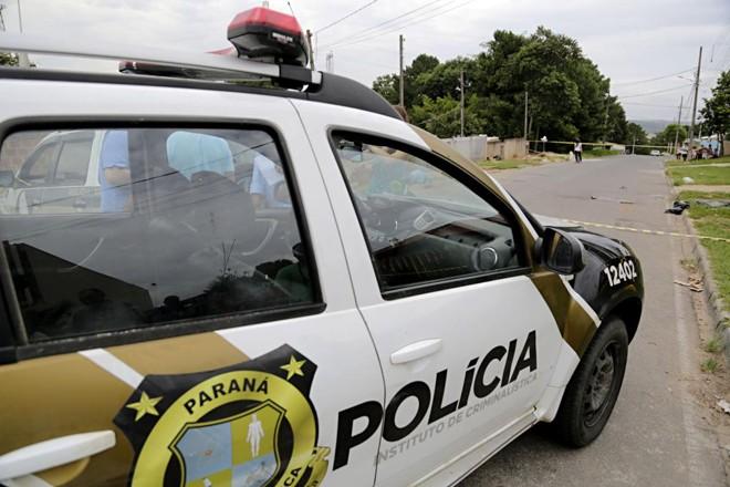 Viatura da PM: redução em homicídios. | Felipe Rosa/Tribuna do Paraná