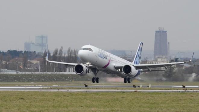 Airbus A321LR fez nesta semana seu primeiro voo teste entre Paris e Nova York | Divulgação/Airbus