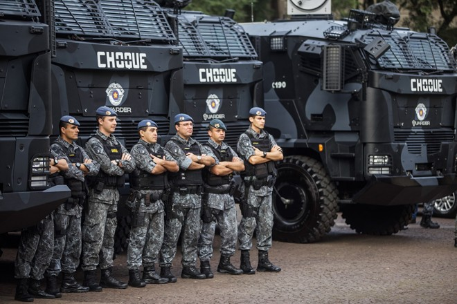 Reforço no policiamento é um dos fatores que contribuíram para queda no número de assassinatos no estado. | Daniel Guimarães/A2IMG