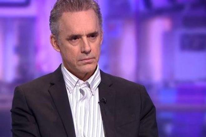 Peterson em ação, durante a já famosa entrevista com Cathy Newman | Reprodução
