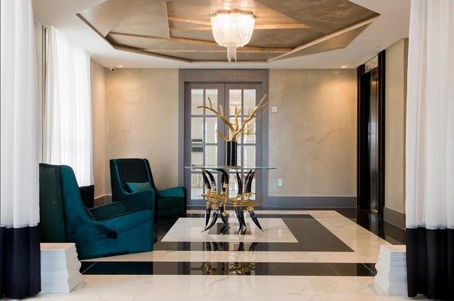 Olobby lazer do Edifício Don Alfonso | Reprodução/Incorporadora Cechinel