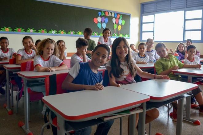 Alunos de uma escola da rede pública do Distrito Federal | Secretaria de Educação do Distrito Federal