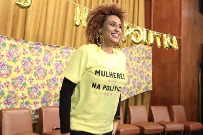 Em novembro do ano passado, Marielle participou de um evento sobre a participação de mulheres na política | Reprodução/Facebook