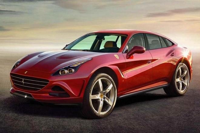 Projeção de como poderia ficar um utilitário esportivo da Ferrari. |