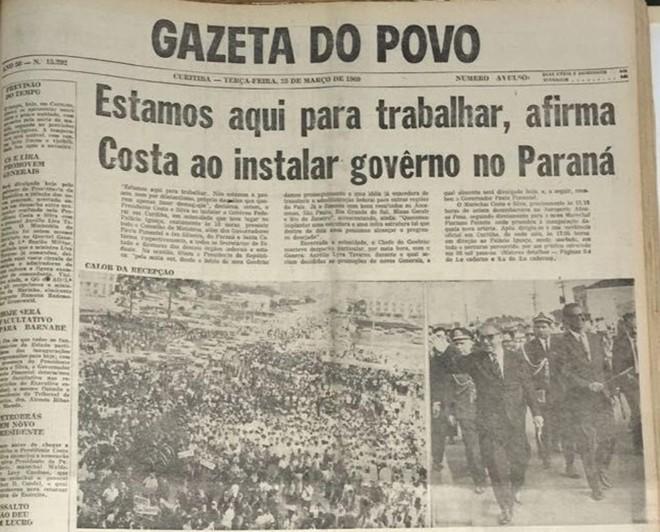Detalhe da capa da Gazeta do Povo. | Janaína Batista/Gazeta do Povo