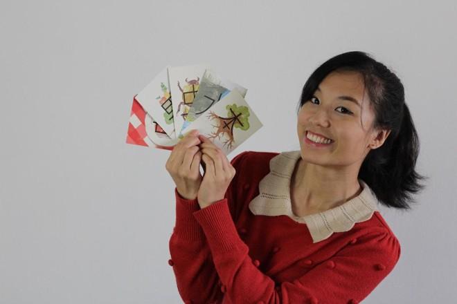 A Caixa Mágica de Chinês do Pula Muralha: conjunto de 60 cartas ilustradas que ajudam a entender a lógica dos ideogramas. | Divulgação.