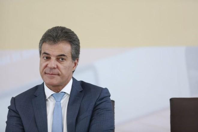 Beto Richa, momentos antes de fazer o anúncio de sua renúncia ao governo do Paraná. | Marcelo Andrade/Gazeta do Povo