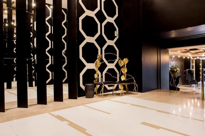 O lobby do Edifício Don Alfonso | Reprodução/Incorporadora Cechinel