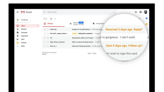 Novo visual do Gmail. | Google/Divulgação