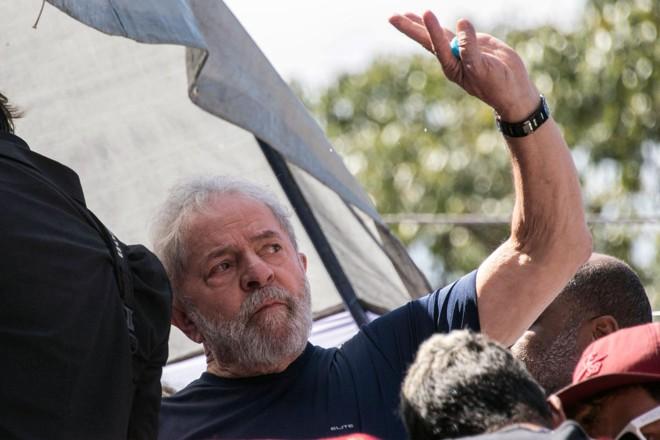 O incidente ocorreu na mesma cidade onde Lula nasceu.   NELSON ALMEIDAAFP