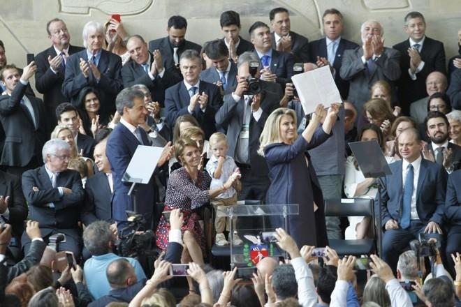 Cida toma posse no Palácio Iguaçu. | Daniel Caron/Gazeta do Povo