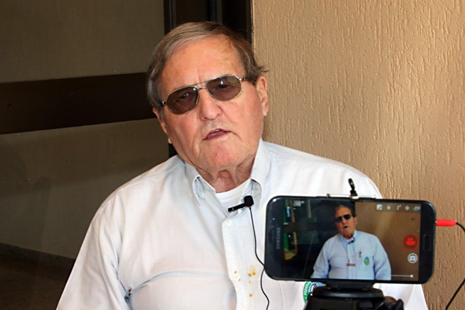 Herbert Bartz concedeu entrevista ao Agronegócio da Gazeta do Povo na ExpoLondrina | Albari Rosa/Gazeta do Povo