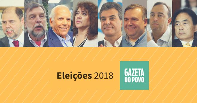 Oito pré-candidatos ao Senado foram sabatinados pela Gazeta do Povo. | Montagem/Gazeta do Povo/
