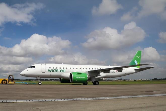 E192-E2 entregue à Widerøe. | Embraer/Divulgação