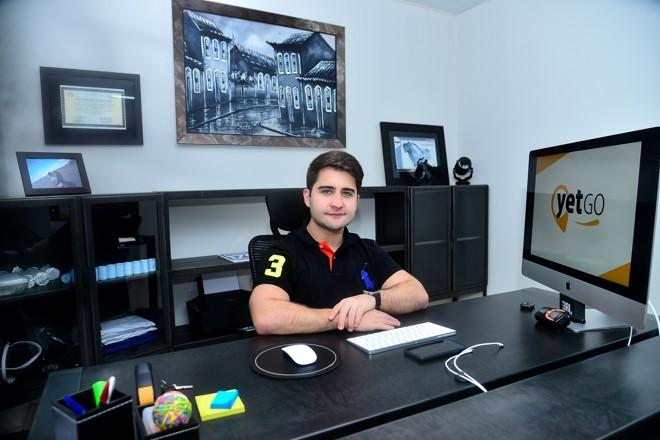 Gervásio Morgado, CEO da YetGo, noe scritório da empresa em Belém (PA). | Emanoel Santots/