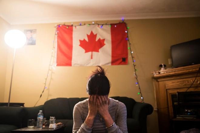 Adiba, uma yazidi que foi capturada pelo EI e vendida seis vezes antes de escapar, tenta uma nova vida no Canadá | TARA WALTON/NYT