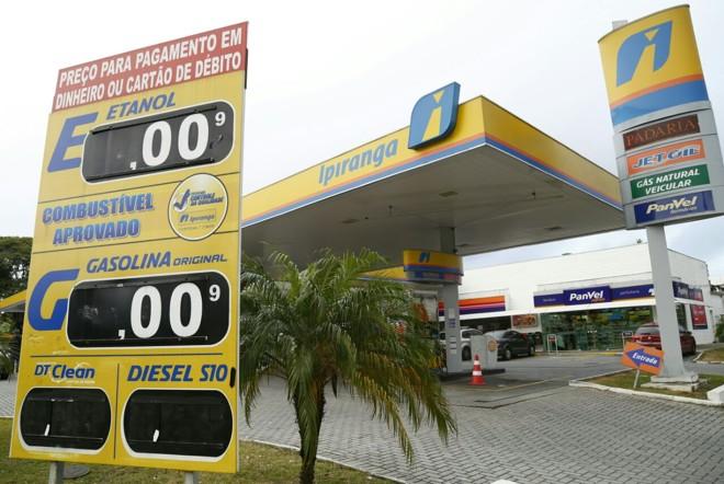 Posto sem combustível para vender em Curitiba na manhã desta sexta-feira. | Aniele Nascimento/Gazeta do Povo