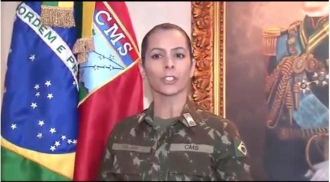Comando Militar do Sul divulgou vídeo. | Reprodução