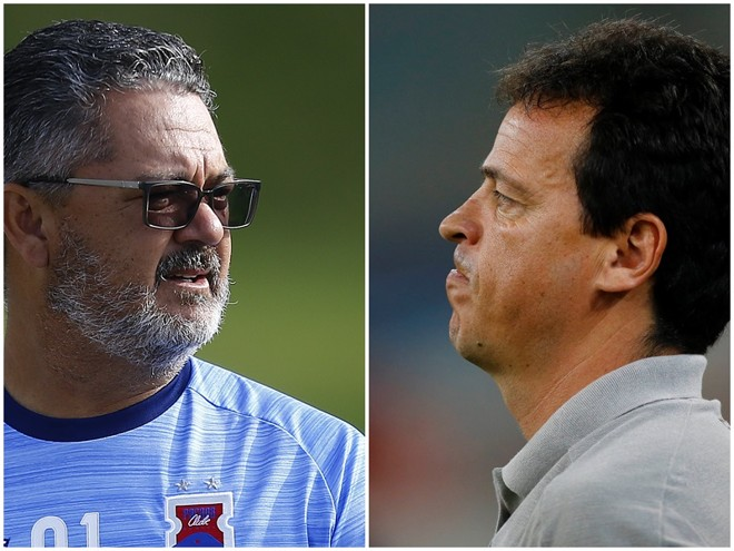 RogérioMicale e Fernando Diniz. | Fotos: JonathanCampos/Gazeta do Povo