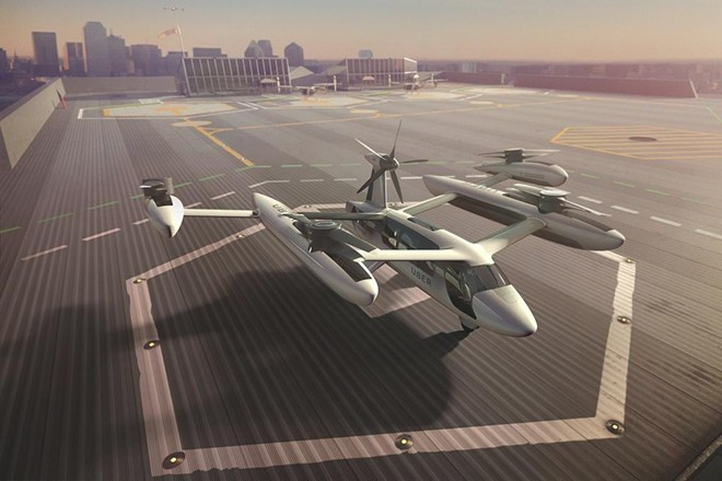 Protótipo do táxi aéreo. | Uber/Divulgação