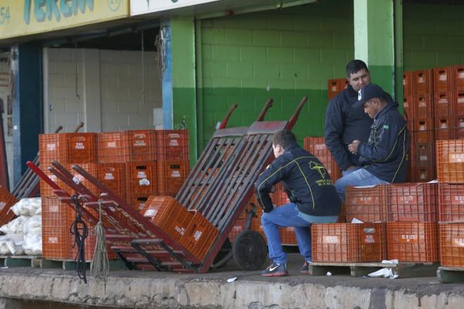 Movimento no Ceasa em Curitiba está abaixo do normal.   Aniele Nascimento/Gazeta do Povo