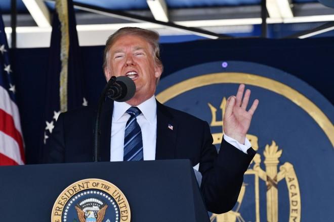 Donald Trump discursa em cerimônia de formatura de militares | NICHOLAS KAMM/AFP