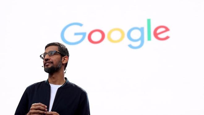 Na foto, Sundar Pichai, CEO do Google. A empresa é a marca mais valiosa do mundo em 2018 | JUSTIN SULLIVAN/AFP