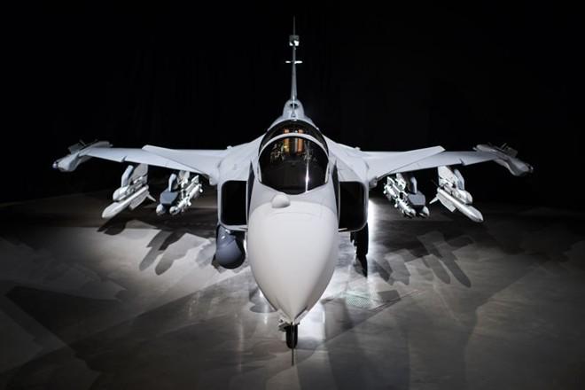 O caça Gripen: Brasil contrato do Brasil com a empresa sueca Saab prevê a compra de 36 unidades, por  US$ 5,4 bilhões.   Saab/Divulgação