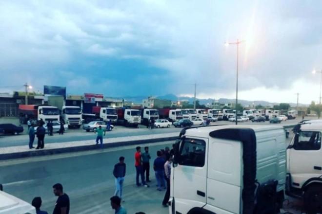 Greve dos caminhoneiros no Irã | Reprodução/ILNA