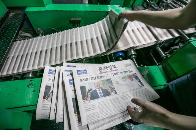 Cancelamento da cúpula entre Trum e Kim foi notícia de primeira página de jornais na Coreia do Sul | Jean ChungBloomberg