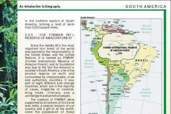 Escolas Dos Eua Ensinam Que A Amazônia é Território Internacional