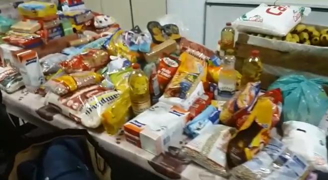 Alimentos foram arrecados em apenas 24 horas | Reprodução/Polícia Militar
