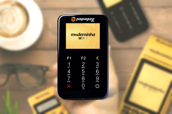 Moderninha Wi-Fi. | PagSeguro/Divulgação
