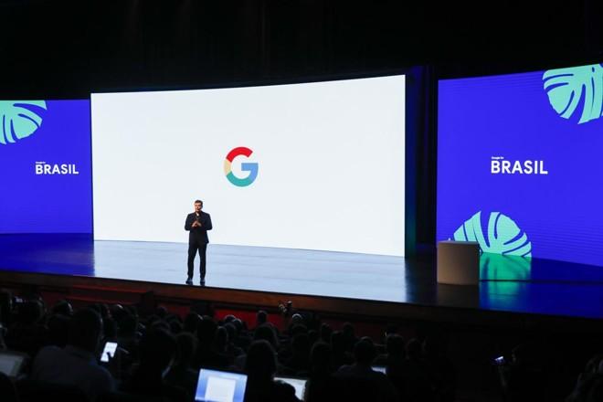 Fábio Coelho, durante a abertura do Google for Brasil 2018. | Google/Divulgação
