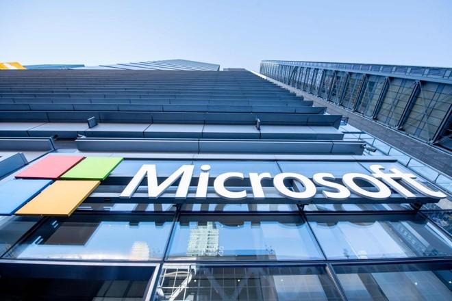Fachada do escritório da Microsoft emNova York. | ROY ROCHLIN/AFP