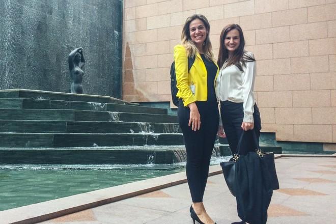 Camila Lopes e Melissa Gava: fundadoras da startup passaram por duas acelerações, em 2017, e hoje estão sediadas no Google Campus | Divulgação Mediação Online
