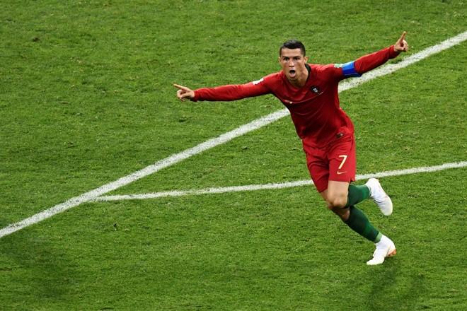 Cristiano Ronaldo no jogo contra a Espanha na estreia da Copa do Mundo 2018. | JONATHAN NACKSTRAND/AFP