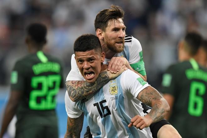 Messi e Rojo vibram com classificação da Argentina | GABRIEL BOUYS/AFP