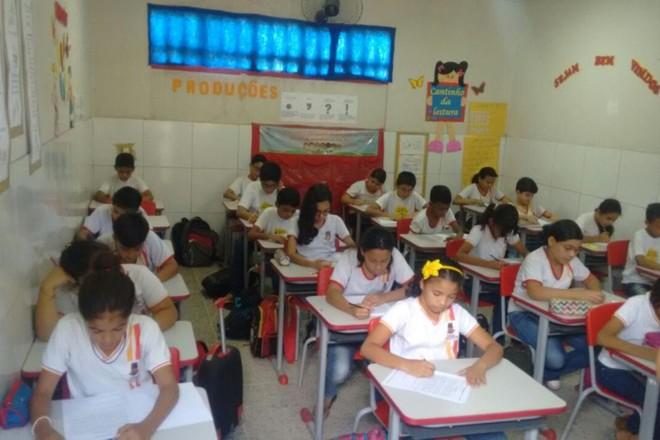 Escola Antônio Mendes: simulado para Prova Brasi em 2017. | Flickr / Secretaria de Educação de Sobral.