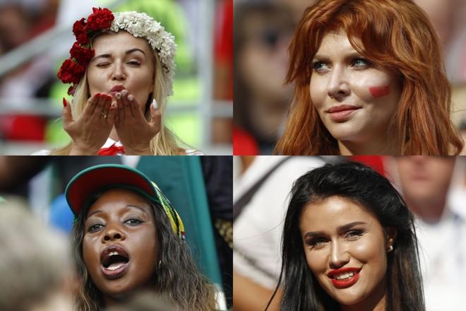 Torcedoras em jogo da Copa do Mundo 2018. | /Fotos: Jonathan Campos/Gazeta do Povo