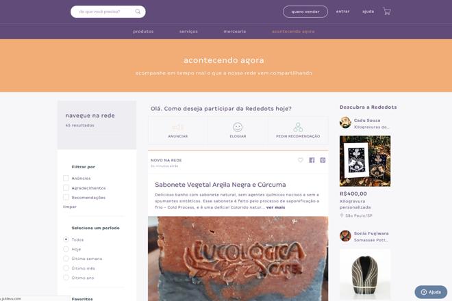 A nova plataforma daRededots permite que empreendedores criem sites e lojas virtuais. | Rededots/Reprodução