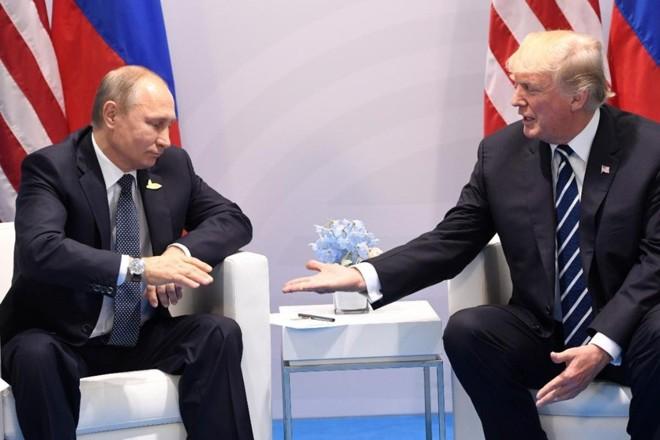 Putin e Trump se encontraram na cúpula dos países do G-20 no ano passado, na Alemanha   Saul Loeb/ AFP