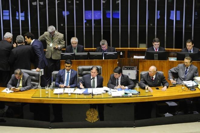 Sessão plenária do Congresso que aprovou a Lei de Diretrizes Orçamentárias na madrugada desta quinta-feira (12).   Marcos Oliveira/Agência Senado