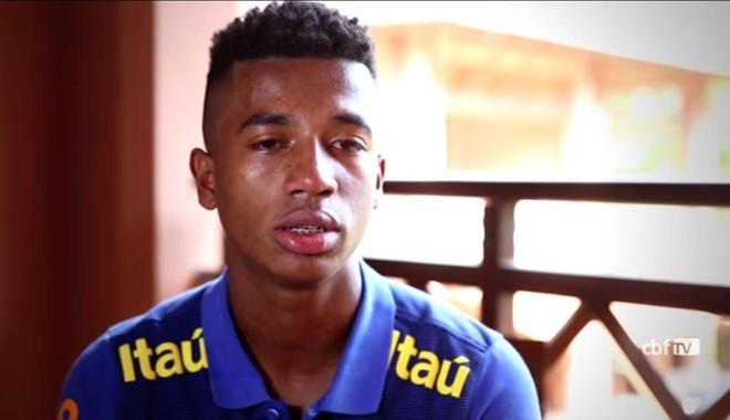 Marcos Antônio, o Marcos Bahia, durante entrevista para a CBF TV, antes do Mundial Sub-17 da Índia, em 2017. | Reprodução/Youtube