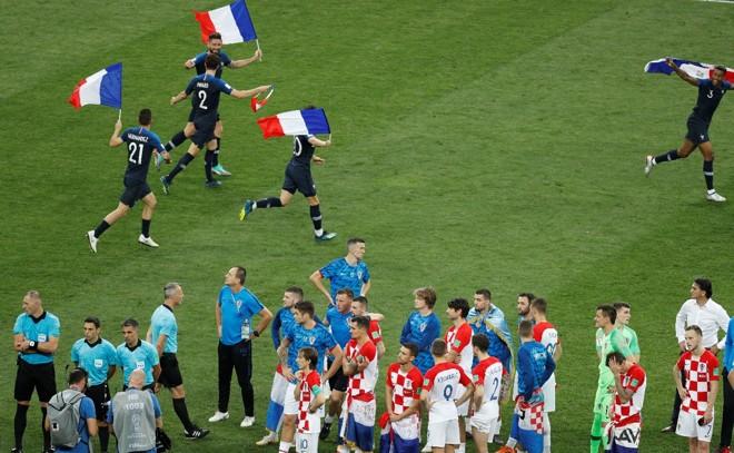 Festa francesa em Moscou:Le Bleus conquistam a Copa do Mundo 2018. | /Jonathan Campos/Gazeta do Povo