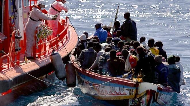 Imagem de resgate feito no Mediterrâneo, no primeiro semestre de 2018. | Reprodução/